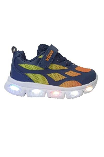 Vicco Woo Erkek Çocuk Lacivert-turuncu Işıklı Phylon Spor Ayakkabı