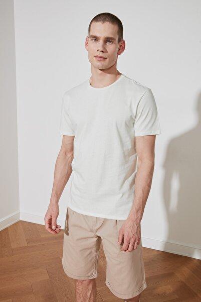TRENDYOL MAN Mint Basic Erkek T-Shirt - Pamuklu Kısa Kollu Bisiklet Yaka Slim Fit T-Shirt TMNSS19BO0001
