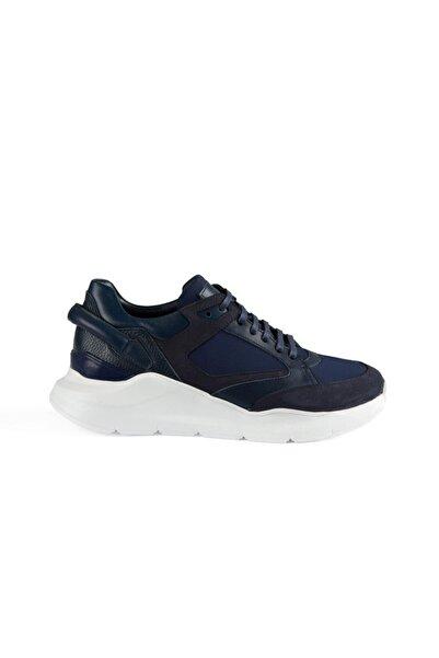 Xint Erkek Lacivert Şerit Detaylı Deri Ayakkabı