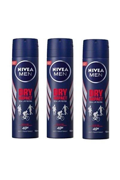 Nivea Men Deodorant Dry Impact 3 X 150 Ml