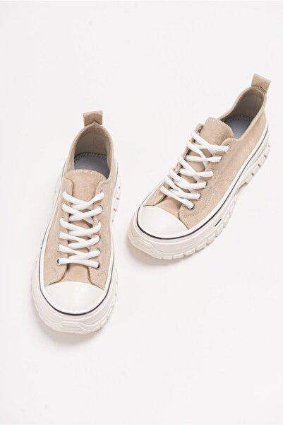 LuviShoes 1453 Ten Süet Kadın Spor Ayakkabı