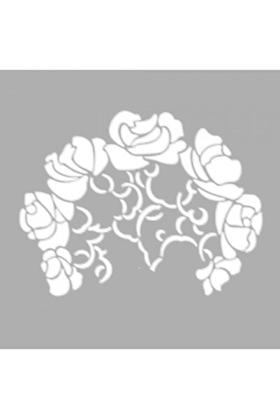 Artikel Art Nouveau Demet Çiçek-13 Stencil Tasarımı 30 X 30 Cm