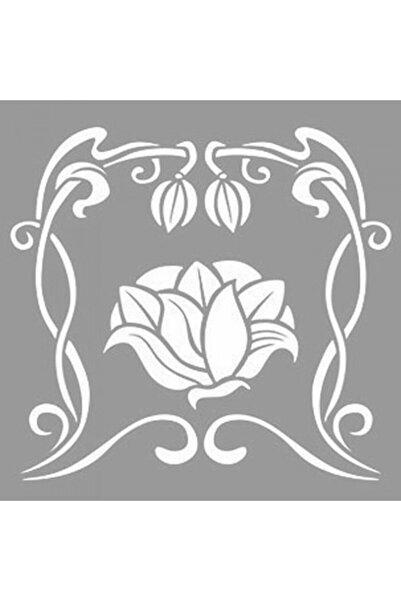 Artikel Elf Çiçekleri Stencil Tasarımı 30 X 30 Cm