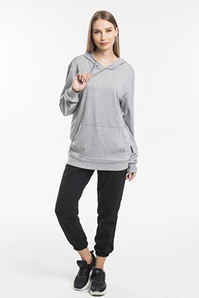 Superlife Kadın Kapş. Kanguru Cepli Sweatshirt