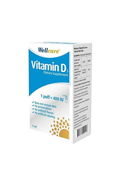 Wellcare Vitamin D3 400 Iu 5ml Sprey