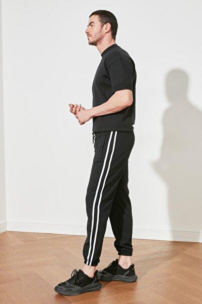 TRENDYOL MAN Lacivert Erkek Şeritli Lastikli Eşofman Altı TMNSS20EA0050