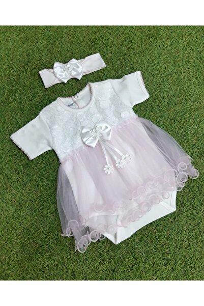Sönmez Baby Elbise Şeklinde Kız Taçlı Tül Etekli Badi
