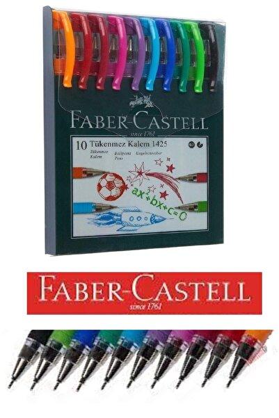 Faber Castell Renkli Tükenmez Kalem Iğne Uçlu 10 Renk 1425 1 Paket