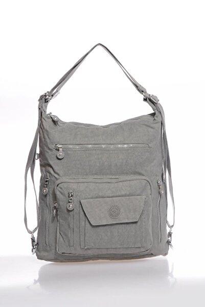 SMART BAGS Smbky1205-0078 Gri Kadın Omuz Ve Sırt Çantası