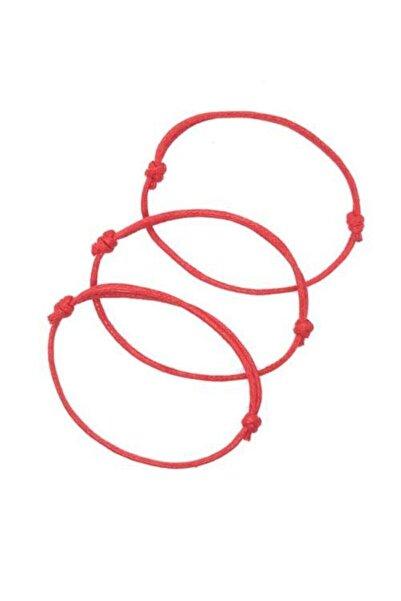 Daphne Store Bileklik Ip -kırmızı Şans Bilekliği 3lü