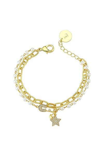 Luzdemia Pearl Petite Star Bracelet