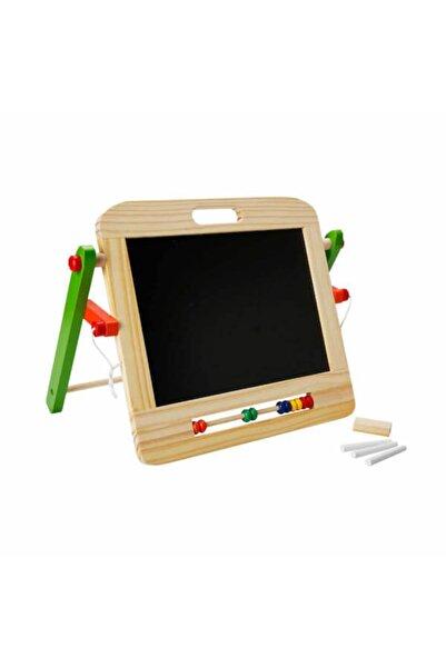 sunman oyuncak Masaüstü 2 Taraflı Yazı Tahtası / Çocuk Eğitici Aktivite Oyuncağı / Woody