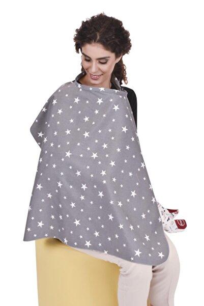 Sevi Bebe Tokalı Emzirme Örtüsü Art-6372 Gri Yıldız