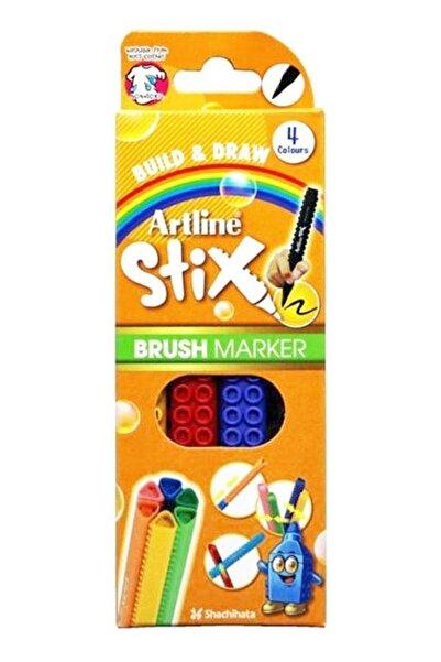 artline Stix Brush Marker 4'lü set