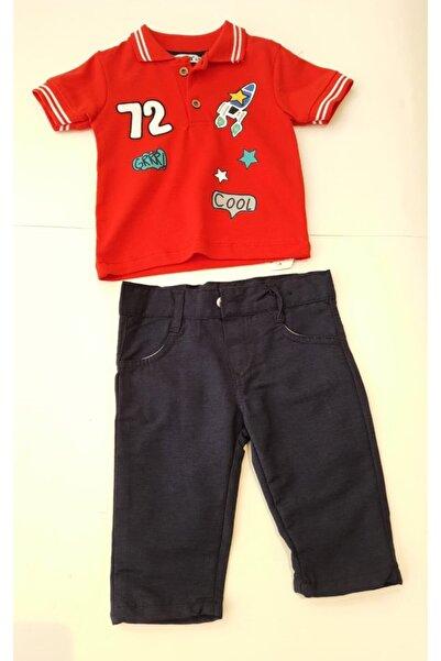 Popolin Erkek Çocuk Kırmızı Nakışlı Lakost Takım