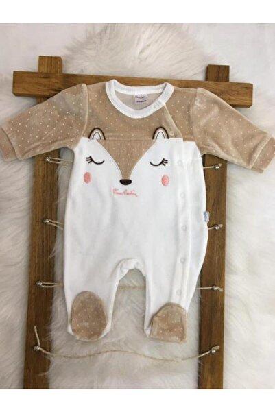 Pierre Cardin Baby Kız Bebek Kahverengi Tilki Kadife Patikli Tulum
