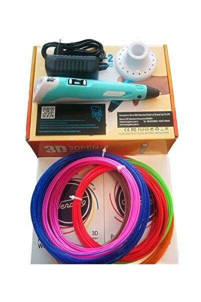 Panthercarver 3d Kalem Ve 6 Farklı Renk*1om Toplam 60 Metre Filament