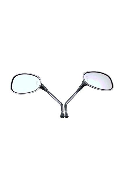 Universal Ürünler - Motorsiklet Motor Ayna Takımı Nikel 8mm Çap