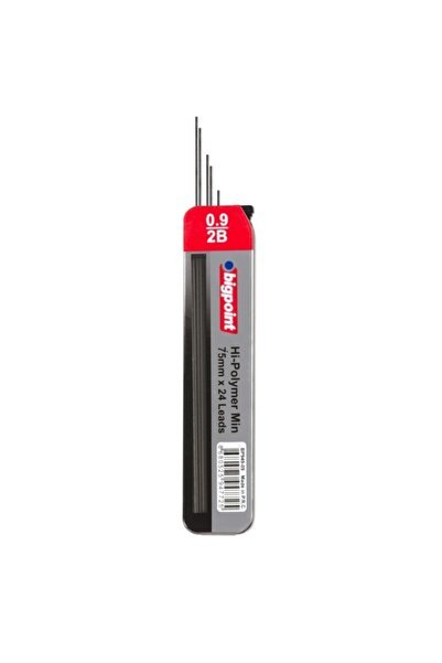 Bigpoint Kalem Ucu 0.9mm 2b 75mm 24'lü Tüp 12'li Kutu
