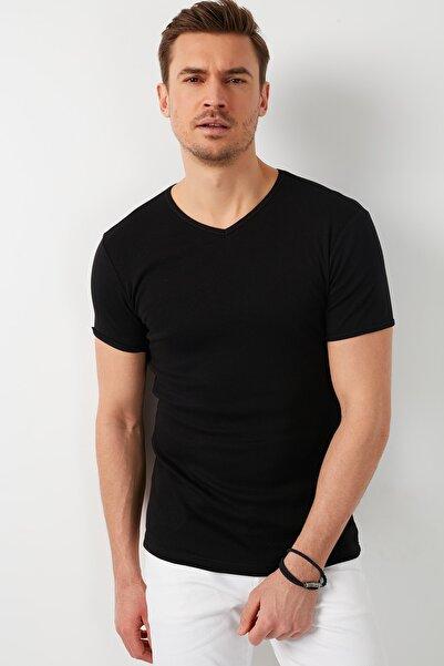 Buratti % 100 Pamuklu V Yaka Basic T Shirt 5902144