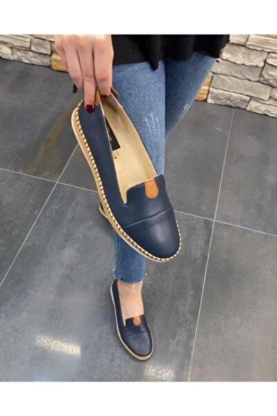 DİVA Bayan Lacivert Deri Günlük Ayakkabı 23sg0104