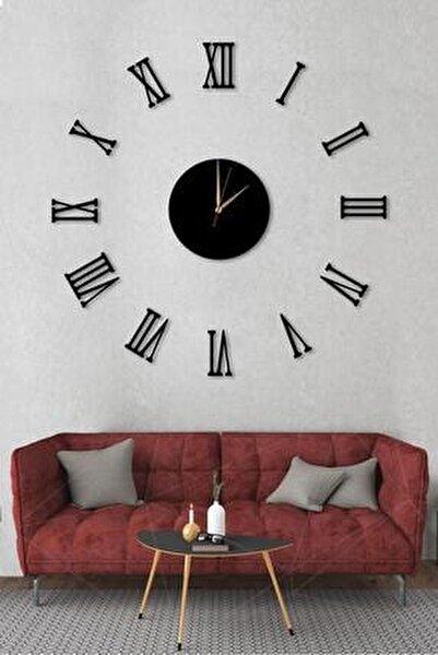 Büyük Ahşap Romen Rakamlı  Göbek Duvar Saati Art1130