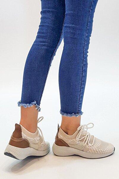 Marjin Kadın Bej Dolya Günlük Spor Ayakkabı