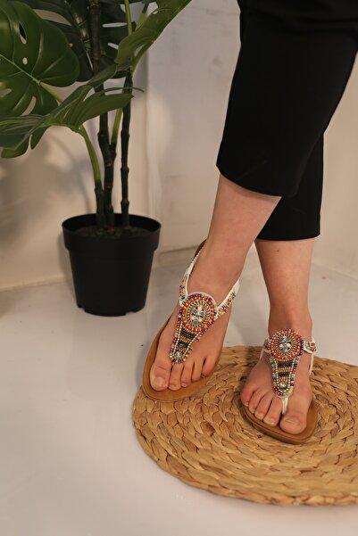 Guja Kadın Beyaz Ortapedik Sandalet 19y250 Prm