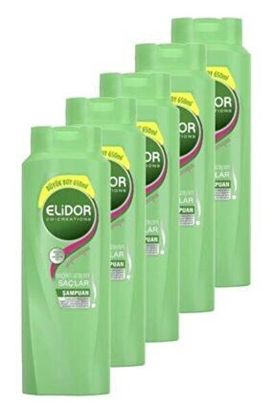Elidor Şampuan Sağlıklı Uzayan Saçlar 650 Ml. Beşli Set Unı67982463-5