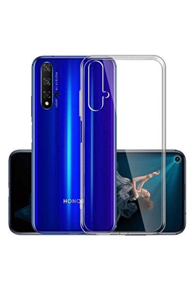 Huawei Nova 5t Kılıf Şeffaf Tam Koruma Esnek Süper Silikon Model