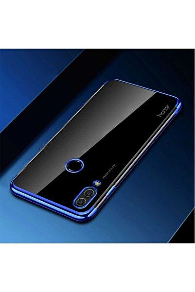 Huawei Y7 Prime 2019 Kılıf Lazer Boyalı Renkli Esnek Silikon Şeffaf