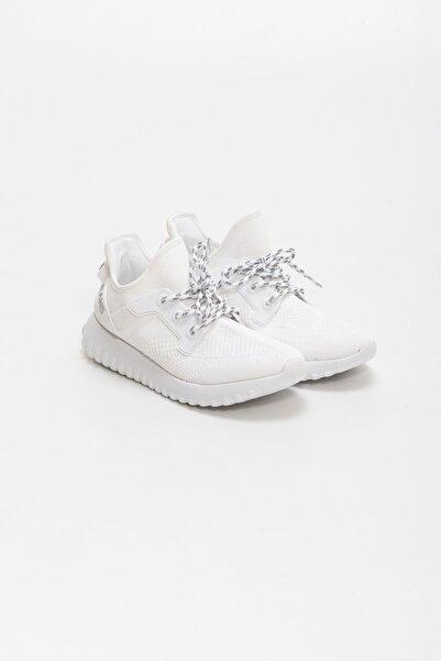 Calvin Klein Kadın Beyaz Knitsock Mesh Sneaker