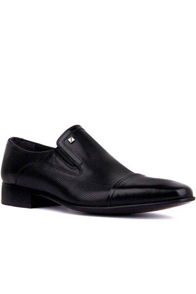 Fosco Erkek Siyah Klasik Deri Ayakkabı