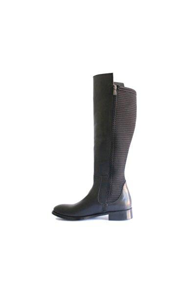 Beta Shoes Hakiki Deri Kadın Çizme Siyah