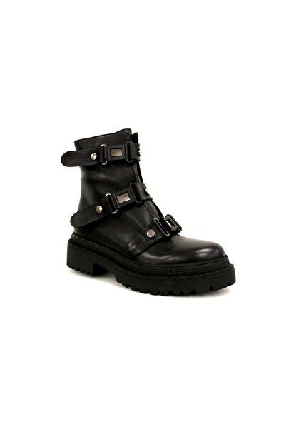 Beta Shoes Bot Hakiki Deri Kadın Siyah