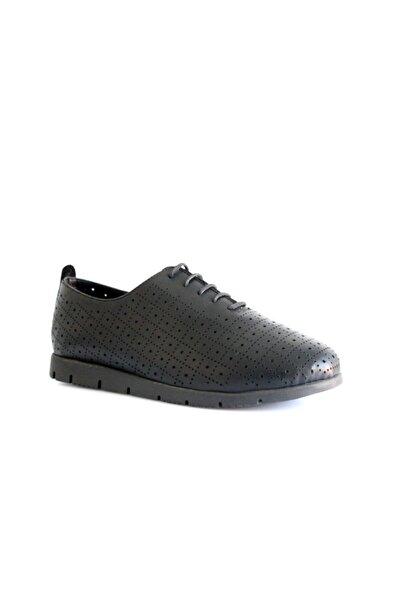 Beta Shoes Günlük Ayakkabı Hakiki Deri Kadın Siyah