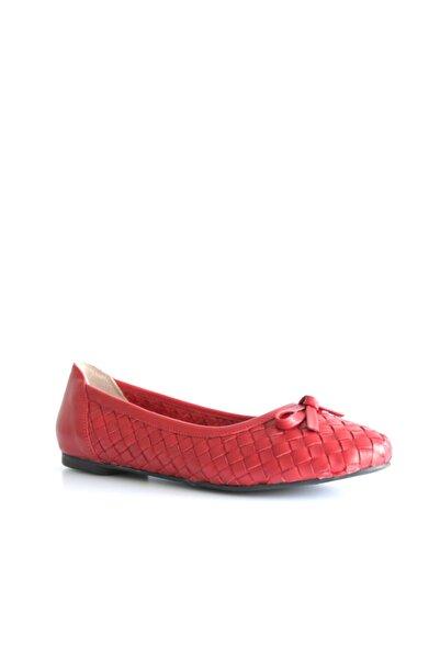 Beta Shoes Kadın Hakiki Deri Babet Kırmızı
