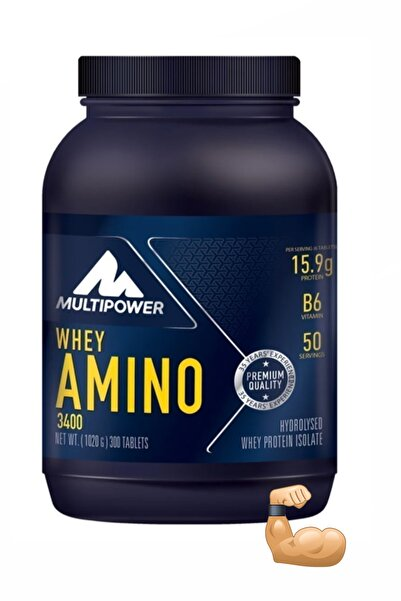 Multipower Whey Amino 3400 400 Tablet Amino Whey Protein Bcaa Glutamin Kas Güçlendirici