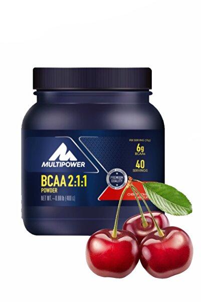 Multipower Bcaa Powder 400 Gr Kiraz Aromalı Amino Bcaa Glutamin Protein Karbonhidrat Gain