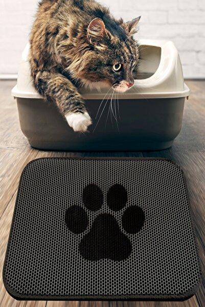 Chilai Home Cat Paw Kedi Kumu Paspası Gri Elekli Tuvalet Önü Paspası