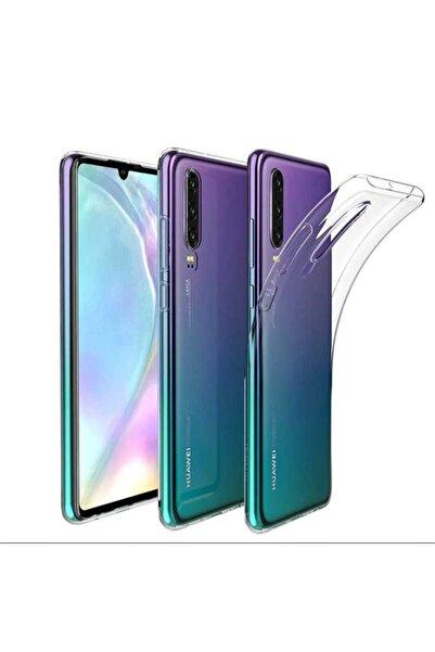 Huawei P30 Kılıf Şeffaf Tam Koruma Esnek Süper Silikon Model