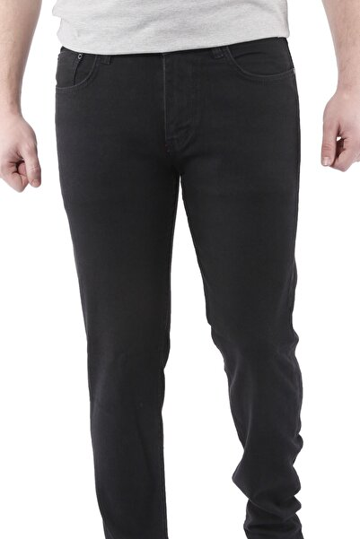 Canelia Erkek Siyah Regular Fit Kot Pantolon
