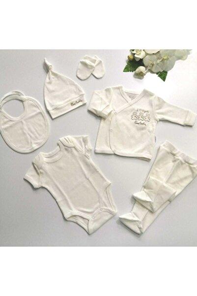 Pierre Cardin Baby Pc Organik Beş Parça Hastane Çıkışı Zıbın Seti