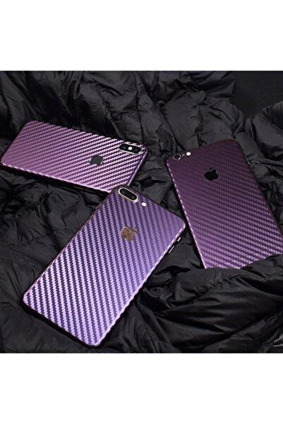 Ally Mobile Iphone 7 Parlak Karbon Fiber Telefon Kaplaması Arka Sticker
