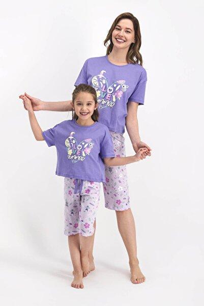 ROLY POLY Kısa Kol Kapri Pantolon Pijama Takımı (anne Kız Kombin Yapılabilir Fiyatlar Ayrı Ayrıdır)