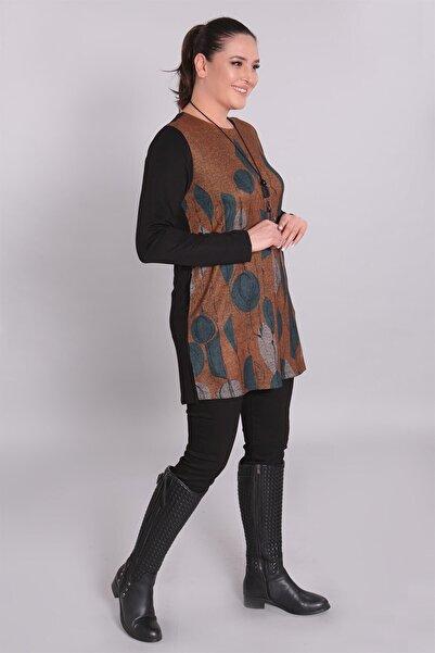 Metpoint Kadın Taba Geometrik Desen Tunik