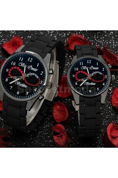 Spectrum Sevgili Saatleri Çift Saat Kombini Sevgililer Günü Doğum Günü Hediyesi Kalpli Sonsuzluk Temalı Saat