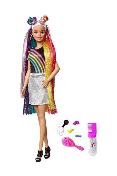 Barbie Gökkuşağı Renkli Saçlar Bebeği FXN96 T000FXN96