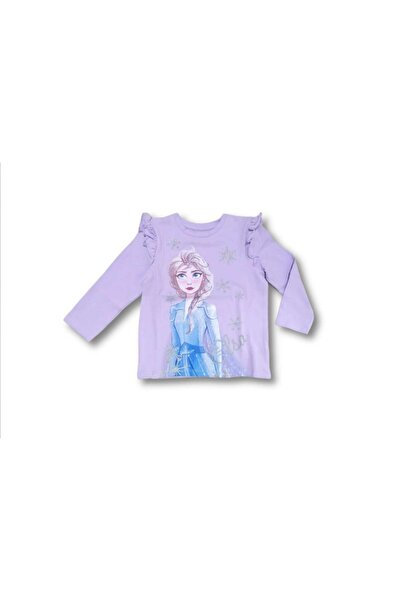 Disney Frozen Kız Çocuk Neon Kids Disneyelsa  Bluz
