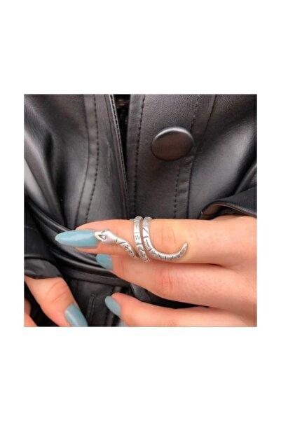 Köstebek Snake Skin Symbols Ayarlanabilir Yüzük